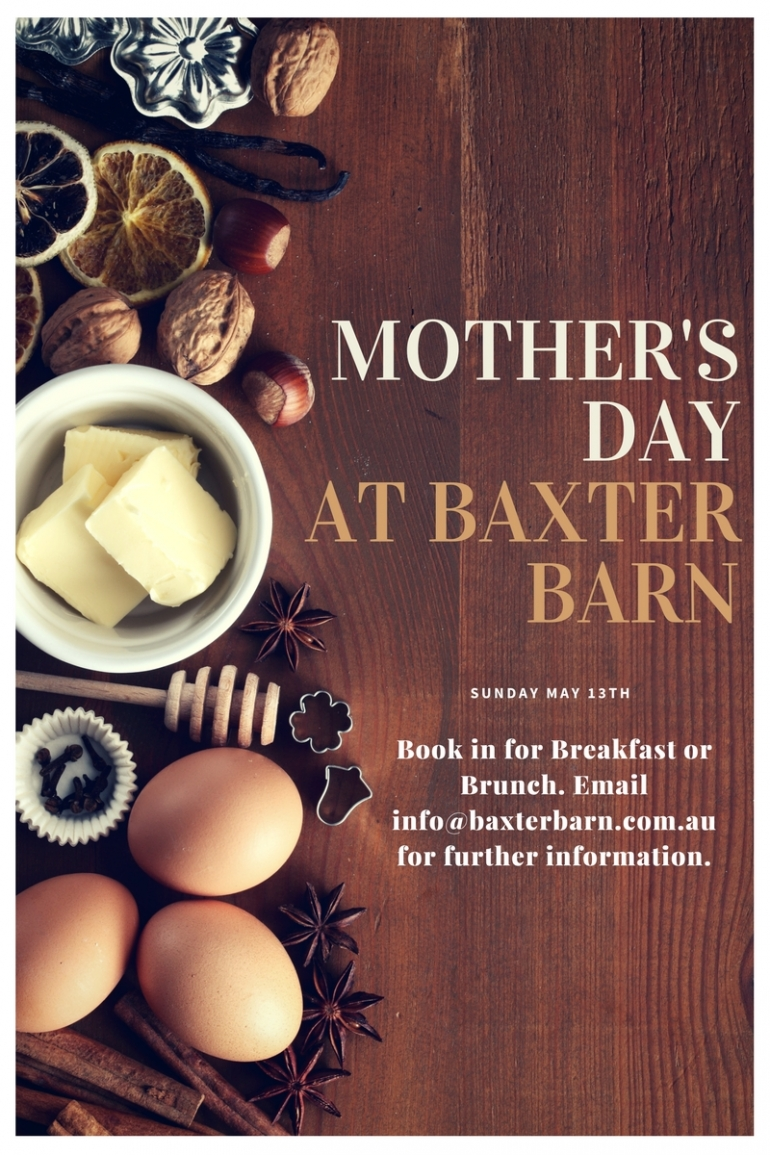Spend Mother's Day at Baxter Barn