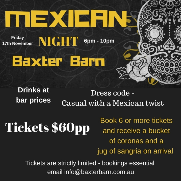 Mexican Night at Baxter Barn!