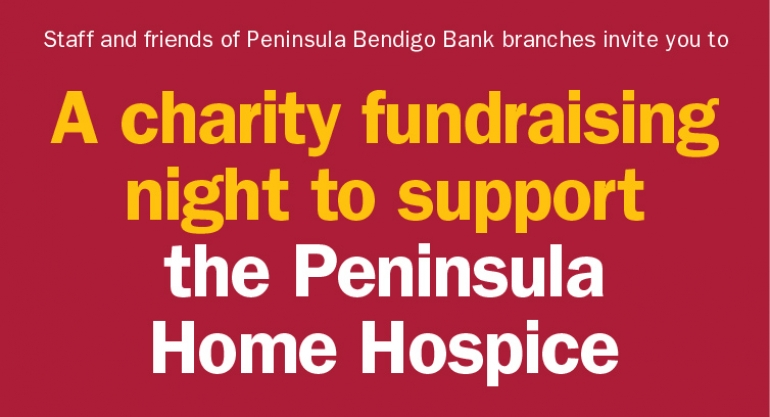 A charity fundraising night to support the Peninsula Home Hospice