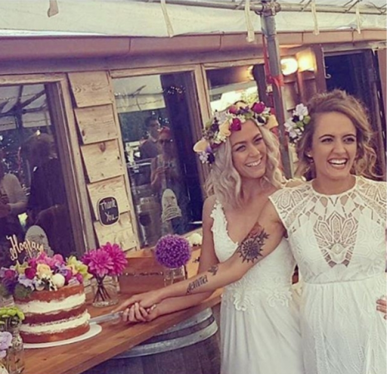 Teegan and Mahatia's boho wedding