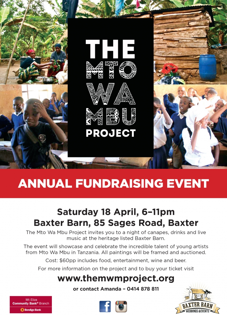 You are invited to the The Mto Wa Mbu Project's Annual Fundraising Event
