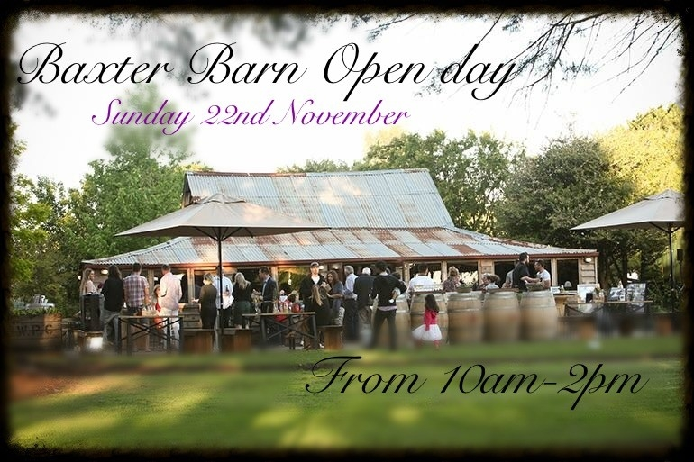 Baxter Barn Open Day - Sunday 22nd November